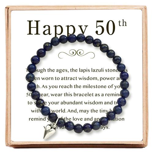 Ofgot7 50th Birthday Gifts For Women Turning 50 Bead Bracelet
